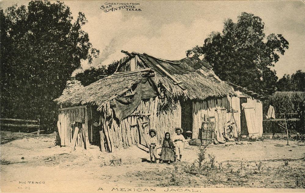 Jacal texano a principios del siglo XX